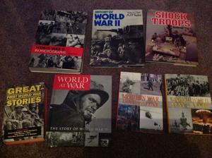 7 x First Second World War books hardbacks tyldesley Manchester