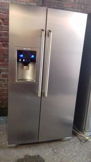 AEG silver American fridge freezer with water and ice dispencer