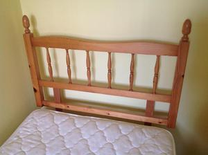 Good quality standard single bed, pine headboard and