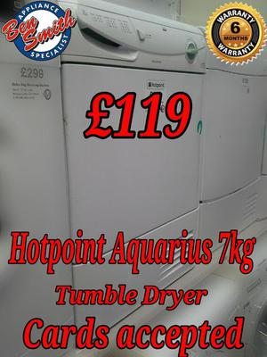 Hotpoint Condensor Tumble Dryer 7kg White