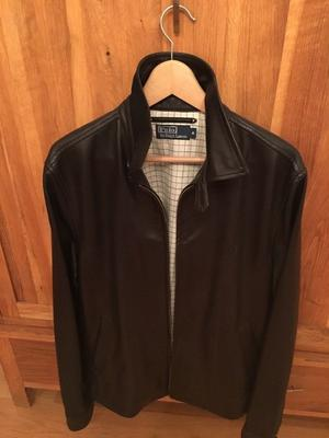 NEARLY NEW GENUINE MENS RALPH LAUREN LEATHER JACKET. SIZE M-L. CAN DELIVER