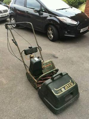 Old petrol mower