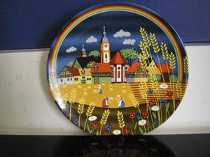 Poole pottery decorative plates. V good condition