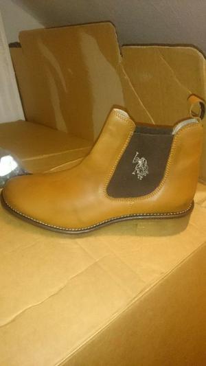 original us polo leather boots