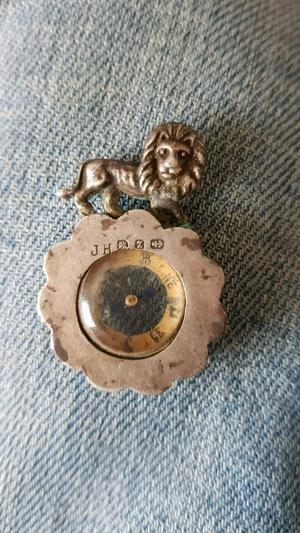 Antique Silver compass pendant