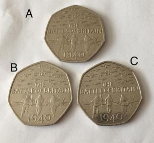 Battle of Britain Fifty Pence Piece(s) x3