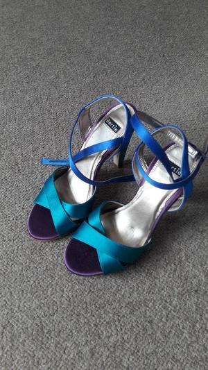 Bertie Ladies Shoes - Size  - Multi coloured satin sandals - As new