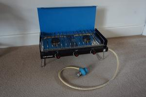 Camping Gaz Super Grillogaz Stove with 2 Burners and Grill