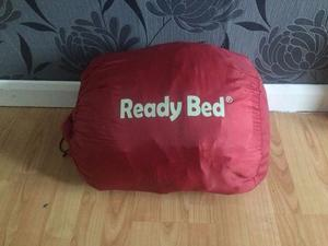 Inflatable ready beds with built in sleeping bags. Cost us £50 each. Literally used for one night.