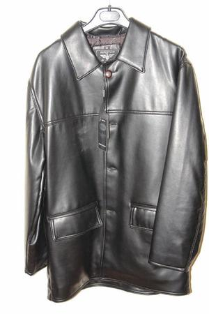 Mens Faux-leather jacket