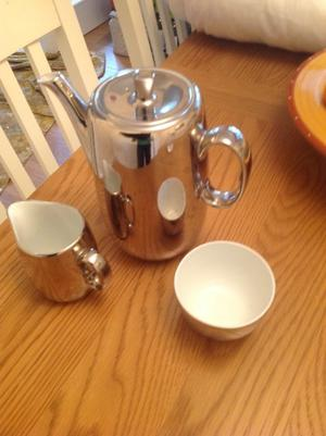 New Royal Worcester coffee pot milk and sugar pot