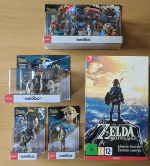 The Legend of Zelda: Breath of the Wild Limited Edition + Amiibo inc The Champions