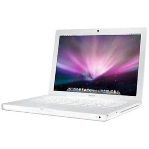 Apple MacBook 13-inch Laptop Intel Core 2 Duo 2.1 GHz 1 GB RAM 120 GB HD Intel White