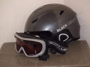 Mens ski helmet and Scott goggles