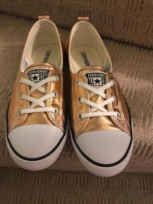 New rose gold converse trainers