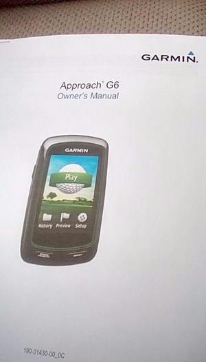 Garmin Approach G6 golf gps