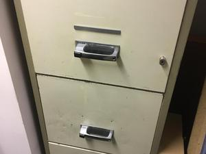 Chubb 3 drawer fireproof filing cabinet suitable for office