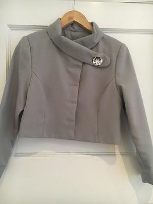 ladies grey dress suit size 10