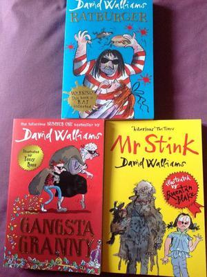 3 x David Walliams Books