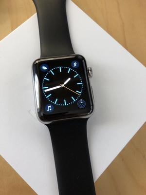 Apple Watch Series 2 42mm Stainless Steel Case with Black Sport Band