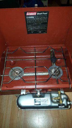 Coleman twin burner petrol stove