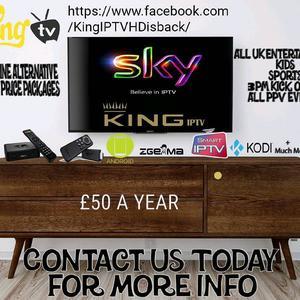 KING IPTV TOP QUALITY £50 A Y E A R