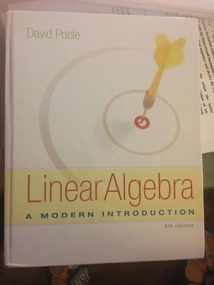 Linear Algebra- Poole