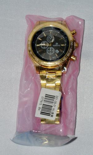 Men's Gold Stainless Steel Quartz Watch