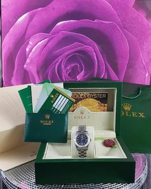 Brand New silver Rolex Datejust Dark blue face, Comes Rolex bagged, Boxed with paperwork