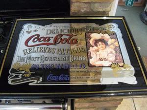 Coca Cola mirrored advert