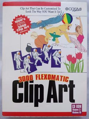 Flexomatic Clip Art - Microsoft Windows Retro CD-ROM