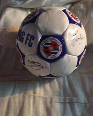 Signed Reading FC football