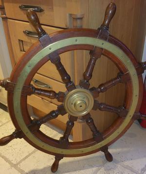 Antique 8 Spoke Ships Wheel
