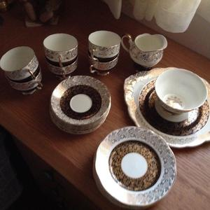 Bone China Tea Service Warranted 22 Carrot