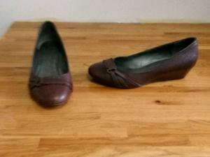 Clarks Dark brown leather shoes