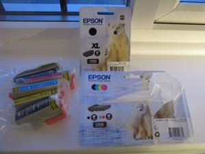 Epson Ink Jet Cartridges. Colour and black. For XP  printer series