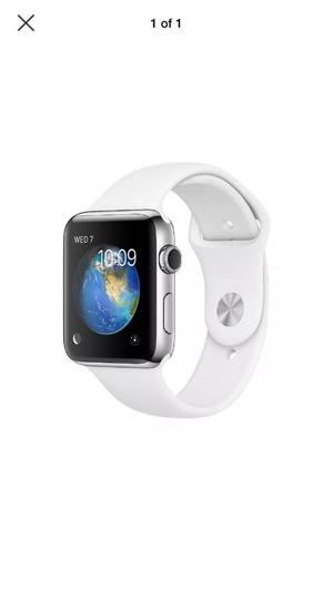 Iwatch series 1 brand new and unopened white band/silver face