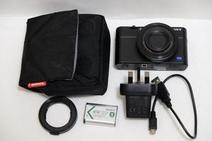 Sony RX100 MKMP Compact Camera with Sony VFA-49R1 filter adapter - Mint condition
