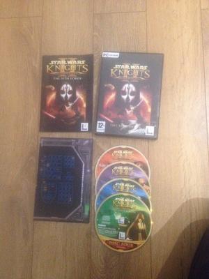 Star trek Bridge Commander, Star Wars KOTOR 2 & 7 Sins PC Games