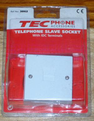 TEC TELEPHONE SLAVE SOCKET WITH IDC TERMINALS NO. LOOK PHONE EXTENSION CE..*