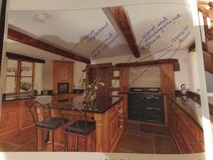 oak kitchen units with solid burred oak doors