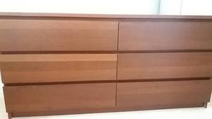 Ikea 6 drawer brown bedroom unit 160x78