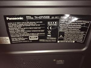 "Panasonic viera 42"" plasma TV with wall bracket and remote"