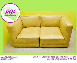 SALE NOW ON!! - Faux Leather 2 Seater Sofa - Local Delivery
