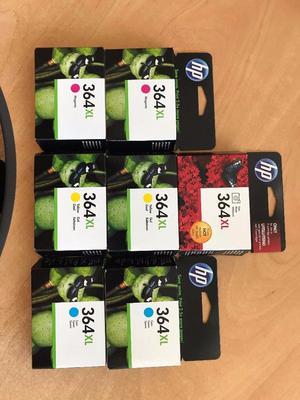 7 Genuine HP 364XL High Capacity cartridges - 2x Cyan/Yellow/Magenta + 1 Photo