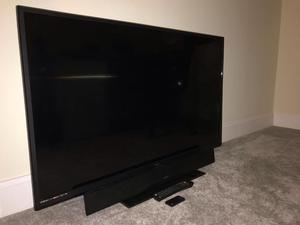 "Technika 50"" Full HD p LED TV. Hitachi Soundbar. Remotes for both included"