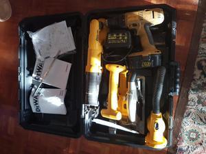 Dewalt 18v nicad Drill, Reciprocating saw, Skill saw & Torch