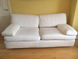 """Large """"Habitat"""" 2 seater cream sofa"""