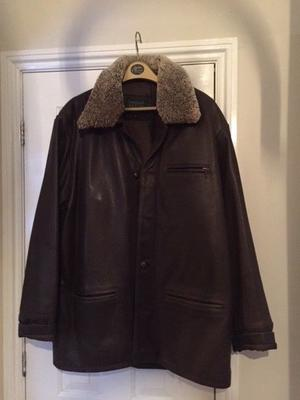 Leather Flying Jacket Mens - Dark Brown Size 42 - excellent condition