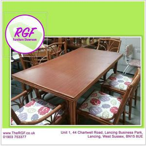 SALE NOW ON!! Dining Table & 6 Cane Chairs For Home Or